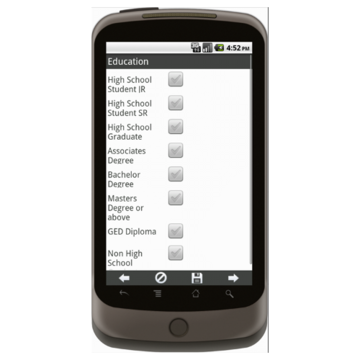 Android: APPLE MD Lead Generation Form - Army National Gaurd Mobile App (Example 4)