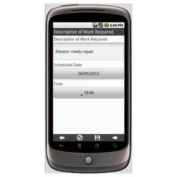 Elevator Maintenance Work Order - Deluxe Form Mobile App - iPhone ...