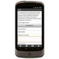 Android: Pumps Rental Agreement Mobile App (Example 1)
