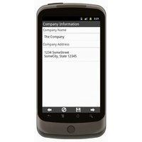 Android: Proposal without License Information - Contractors Group Mobile App (Example 2)