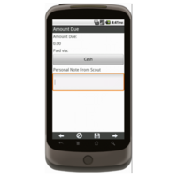 Android: Trail's End Order Form - Boy Scouts Mobile App (Example 3)