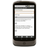 Android: Completion Report (Wells) Mobile App (Example 1)