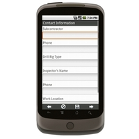 Android: Mobile / Portable Drilling Rig Initial Inspection Form Mobile App (Example 1)