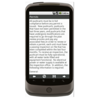 Android: General Operating Requirements for Food Pushcarts - Maricopa County, AZ Mobile App (Example 1)
