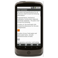 Android: General Operating Requirements for Food Pushcarts - Maricopa County, AZ Mobile App (Example 3)
