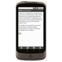 Android: General Operating Requirements for Food Pushcarts - Maricopa County, AZ Mobile App (Example 4)