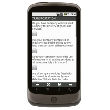 Android: Oil and Gas Drilling  Safety Management: Transportation Mobile App (Example 1)