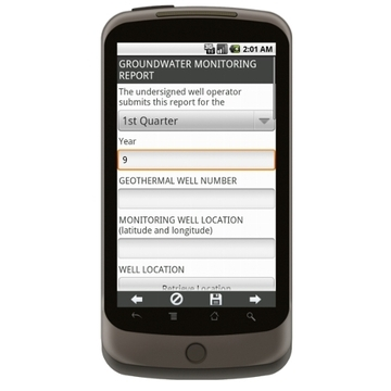 Ground Water Monitoring Report Form Mobile App - iPhone, iPad, Android