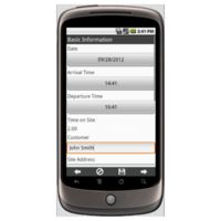 Android: Field Service Report Mobile App (Example 1)