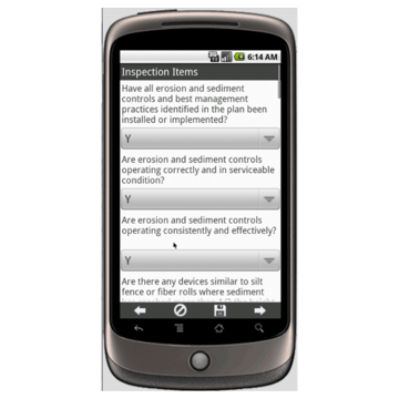 Android: Stormwater Construction Site Inspection Report - New Mexico Mobile App (Example 2)