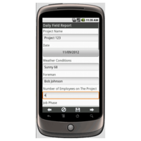 Android: Construction Daily Field Report Mobile App (Example 1)
