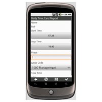 Android: Construction Daily Field Report Mobile App (Example 2)