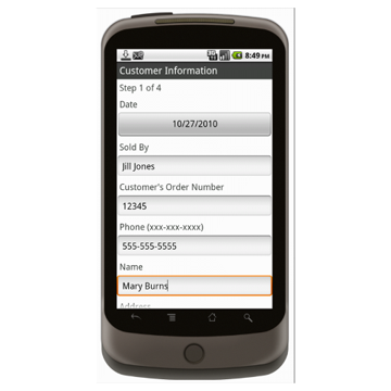 Android (1.5+): Multipurpose Sales Order - Deluxe 55T Mobile App (Example 1)