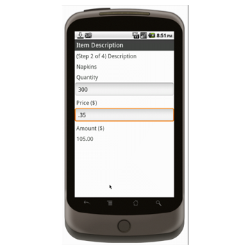 Android (1.5+): Multipurpose Sales Order - Deluxe 55T Mobile App (Example 2)