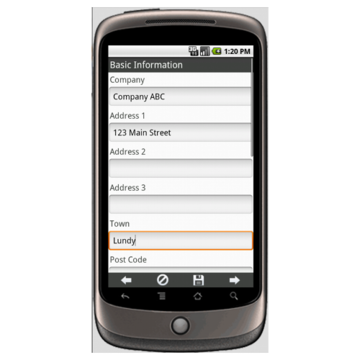 Android: Customer Visit Report Mobile App (Example 1)