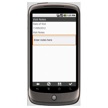 Android: Customer Visit Report Mobile App (Example 2)