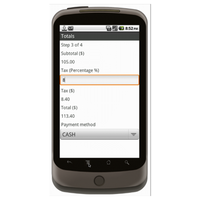 Android (1.5+): Multipurpose Sales Order - Deluxe 55T Mobile App (Example 3)