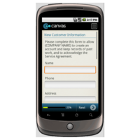 Android: New Customer Information Form Mobile App (Example 1)