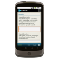 Android: OSHA - Notice of Alleged Safety Violation Mobile App (Example 2)
