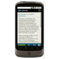 Android: OSHA - Notice of Alleged Safety Violation Mobile App (Example 4)