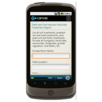 Android: Good Agricultural Practices (GAP): Field and Post-Harvest Pesticide Treatment Report Form Mobile App (Example 1)