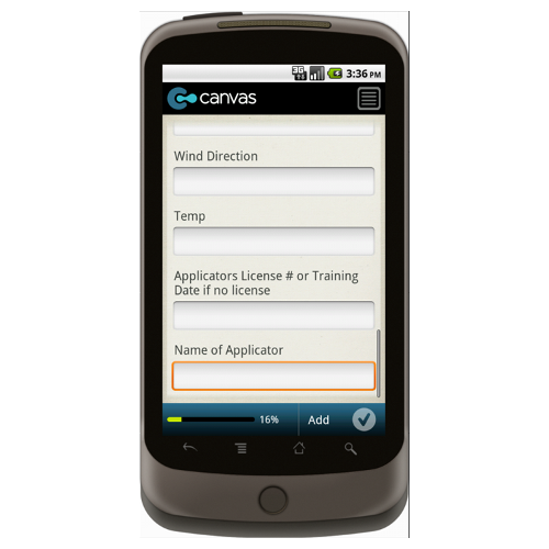 Android: Good Agricultural Practices (GAP): Field and Post-Harvest Pesticide Treatment Report Form Mobile App (Example 3)