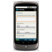 Android: Hairdresser/Salon Client Profile and History Form Mobile App (Example 1)