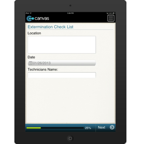 iPhone or iPad (iOS): Blank Check List Mobile App (Example 1)