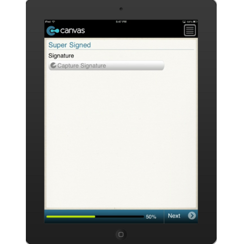 iPhone or iPad (iOS): Blank Check List Mobile App (Example 2)