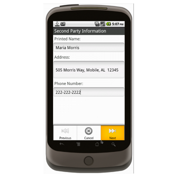 Android (1.5+): Basic Contract (Organization to Individual) Mobile App (Example 4)