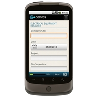 Android:  Electrical Equipment OHS Register (Australia) Mobile App (Example 1)