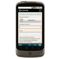 Android: Guardería de Padres Contrato/ Day Care Parent Agreement Contract  Mobile App (Example 1)