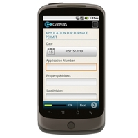 Android: Furnace Replacement  Application Permit Ohio: Delaware County Mobile App (Example 1)