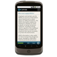 Android: Checklist For MSDS Compliance Mobile App (Example 3)