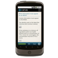 Android: Checklist For MSDS Compliance Mobile App (Example 4)