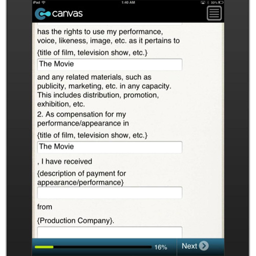 Actor Release Form  BusinessformtemplateCom Form Mobile App