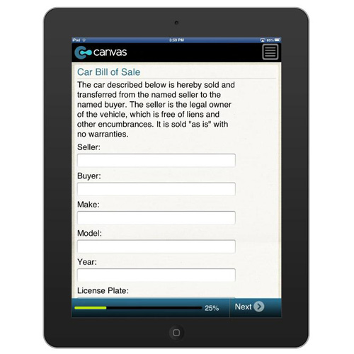 Car Bill Of Sale  BusinessformtemplateCom Form Mobile App