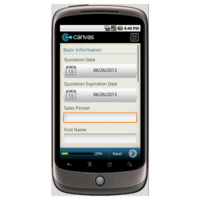 Android: General Quotation Form Mobile App (Example 1)
