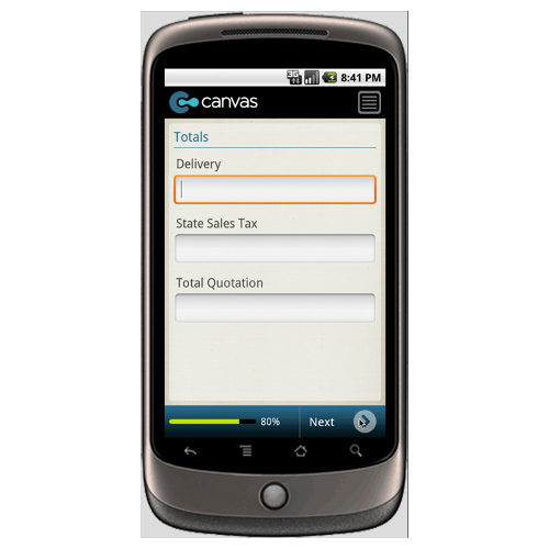 Android: General Quotation Form Mobile App (Example 3)
