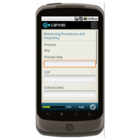 Android: HACCP Plan Development Form Monitoring Procedures and Frequency Mobile App (Example 1)
