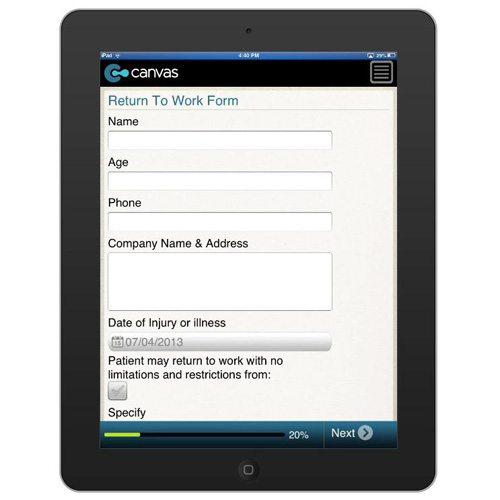 Return To Work Form - Businessformtemplate.Com Form Mobile App