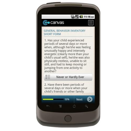 general behavior inventory short form parent report form mobile app