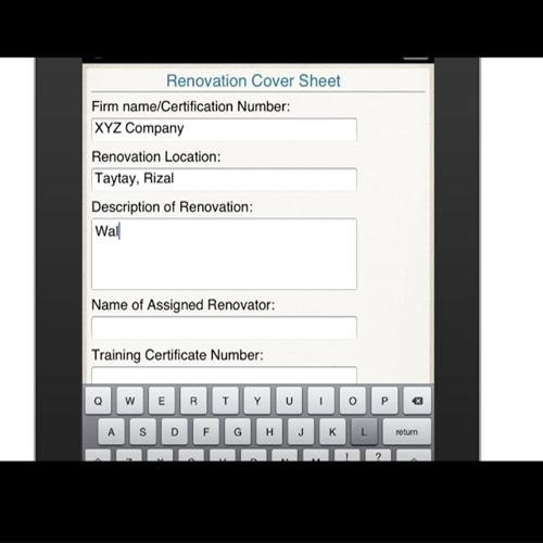 Renovation Cover Sheet Conforme Form Mobile App Iphone