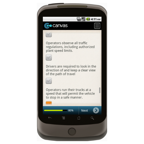 Android: OSHA Warehouse Safety Checklist: General Safety Mobile App (Example 4)