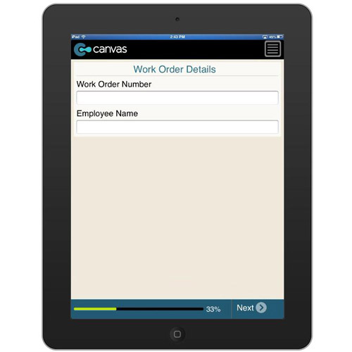 iPhone or iPad (iOS): Basic Work Order - Formville Mobile App (Example 1)