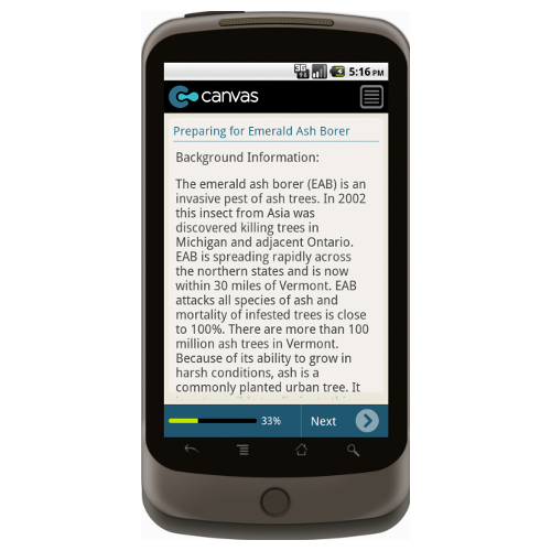 Android: Preparing for Emerald Ash Borer Mobile App (Example 1)