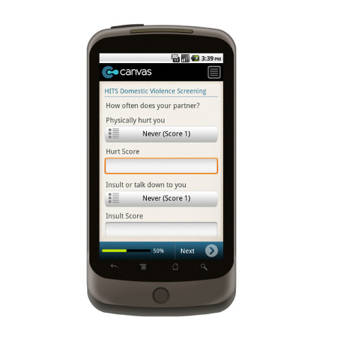 Android: HITS Domestic Violence Screening Mobile App (Example 1)
