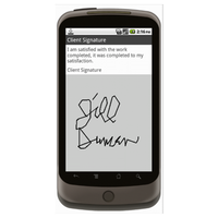 Android (1.5+): Signature Capture Mobile App (Example 2)