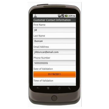 Android (1.5+): Signature Capture for Waiver of Liability Mobile App (Example 1)