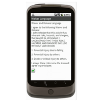 Android (1.5+): Signature Capture for Waiver of Liability Mobile App (Example 2)